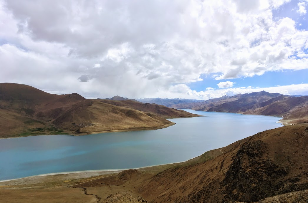 Namtso Lake from the pass