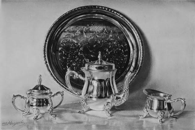 Juego de té,dibujo de Manjarrés