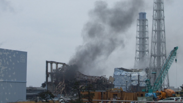 Photograph of Fukushima Daiichi Reactors After Disaster