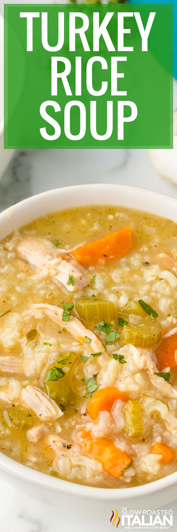 Turkey Rice Soup closeup