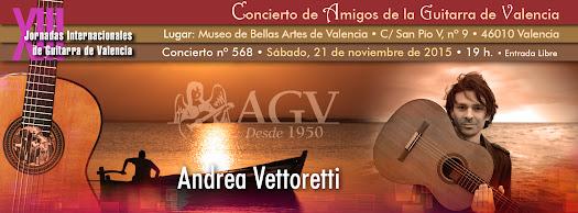 Concierto de Andrea Vettoretti, en Amigos de la Guitarra de Valencia