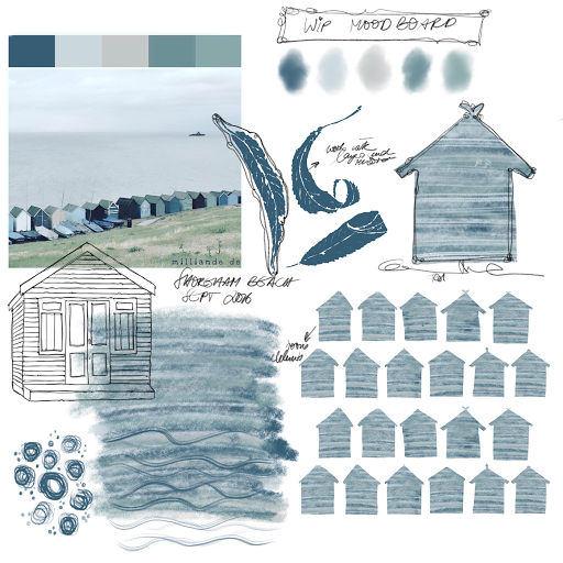 WIP Moodbaord for Printdesign , Surfacepattern Design Collection by Milliande De