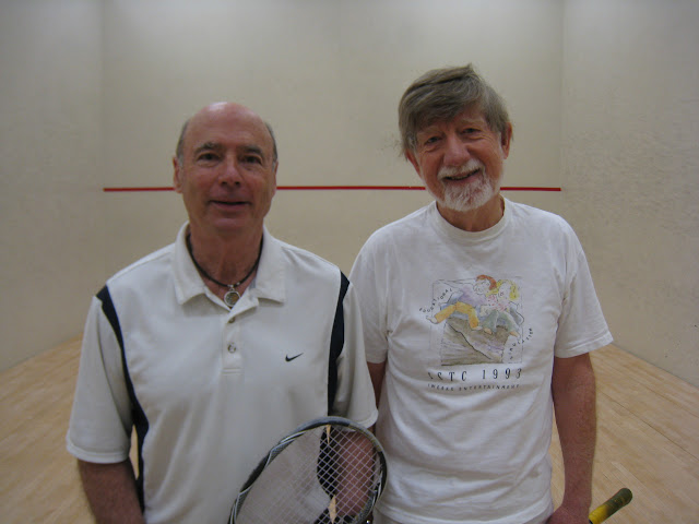 Tim Brown, winner, and Bob Eather, finalist, of the Men's 70+ flight.