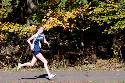 Erica Canas of Old Tappan striding in 2nd in group A girls. Photo by Tom Hart.#8