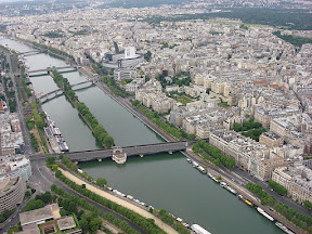 The Siene from the Eiffel Tower.  I just love this view.
