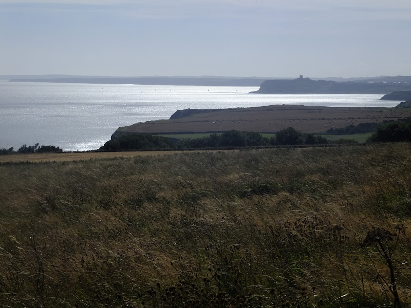 Scarborough Castle sits distinctly in the distance