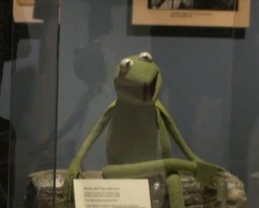 Kermit (la rana Gustavo) en la exposición de Nueva York