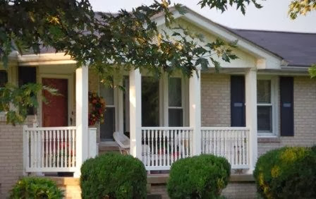 Ranch Style Home Front Porch Designs.
