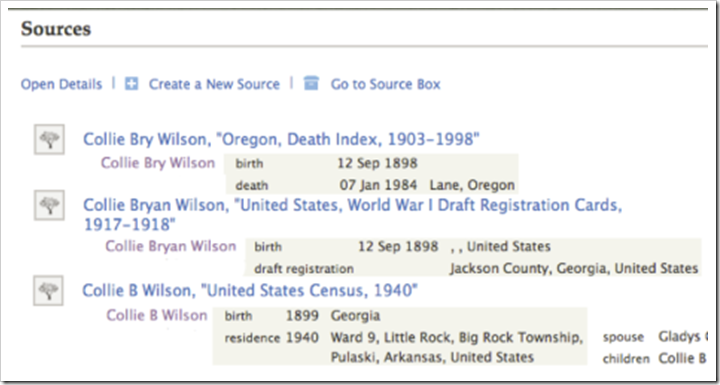 Mockup from Randy Wilson of what a user interface would look like that showed the values associated with sources