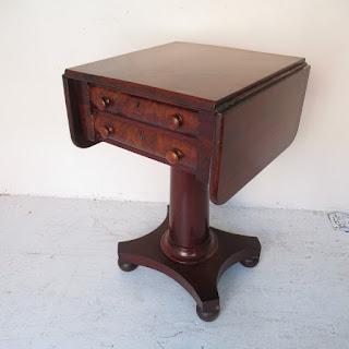 Antique Pedestal Drop Leaf Table