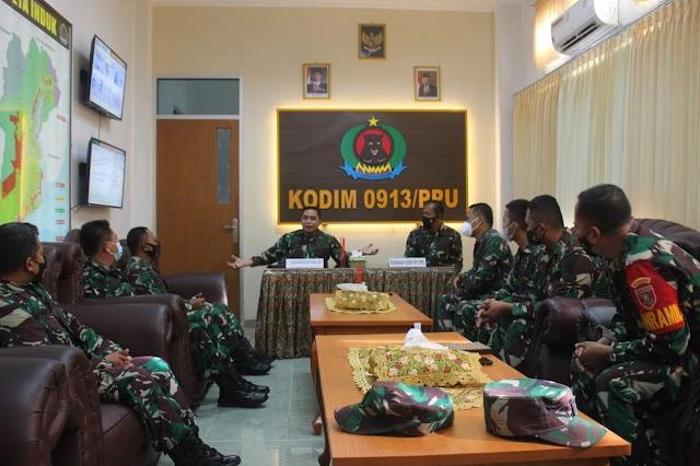 Tim Dalprog Kodam VI/Mulawarman Kunjungi IKN di Kodim 0913/PPU