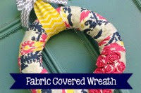 Fabric Covered Wreath