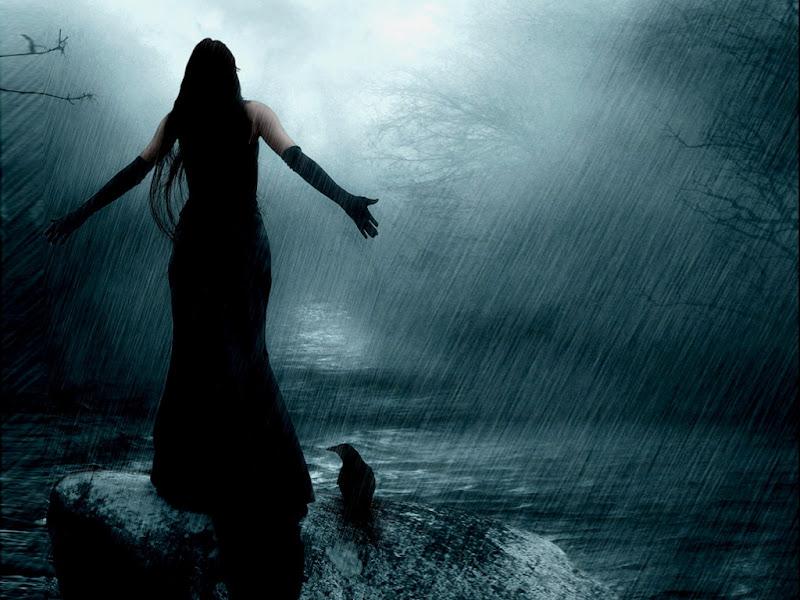 Rain Girl And Raven, Ravens