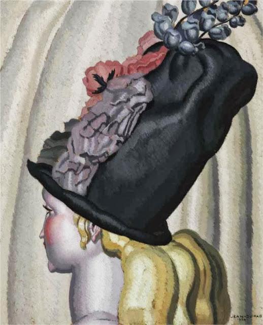 Jean Dupas - Portrait of a Woman with Hat