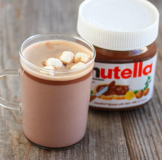 close-up photo of nutella hot chocolate