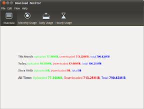 Controla cuanto descargas en Ubuntu con Download Monitor