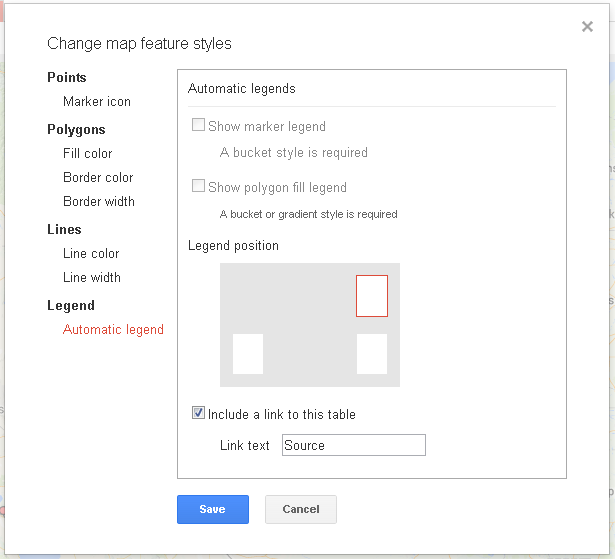 Fusion Tables Styles suddenly not working - Fusion Tables Help on topographic map legend, old map legend, map key legend, bing maps legend, apple maps legend, google map pin, google map red dot,