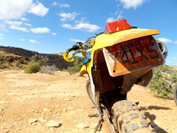 DR-Z250 on the Orange Trail