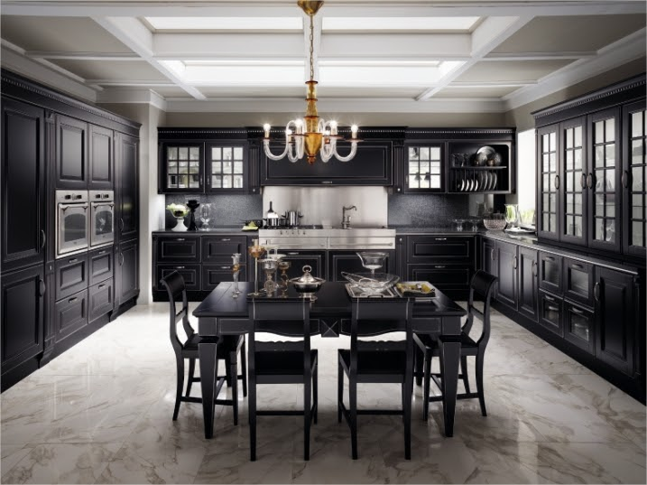 Cucina design Scavolini nera Impero