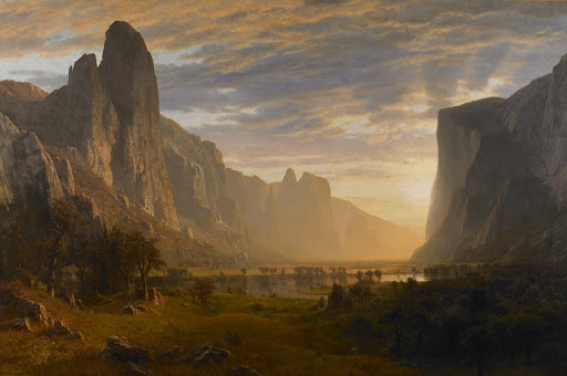 Looking Down Yosemite Valley, California - Albert Bierstadt - Google Arts & Culture