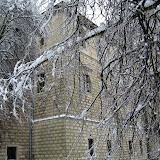 Nasz zamek. Piękny lód na drzewie