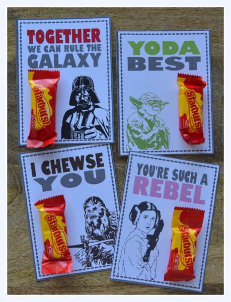 Star Wars Starburst Valentines