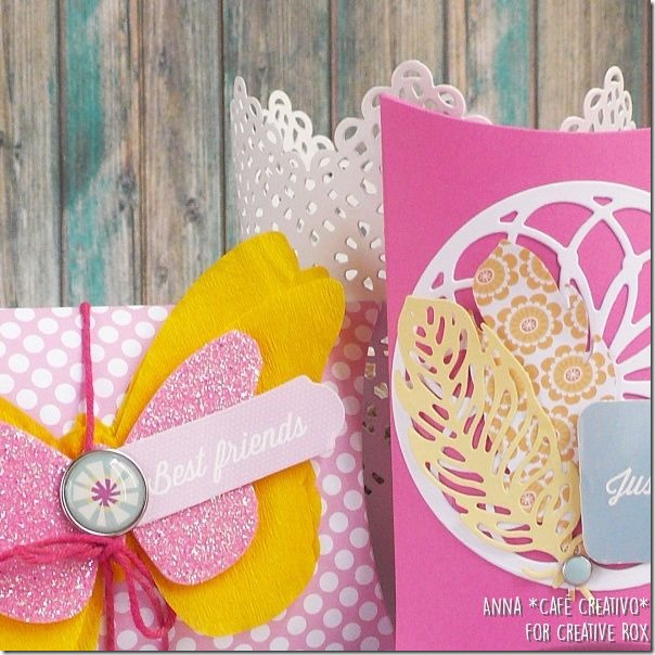 Pillow Box con Vintage Butterfly e Dream Away Sizzix Fustelle