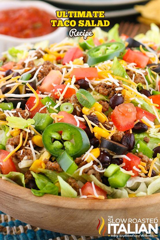 Ultimate Taco Salad Recipe in a bowl