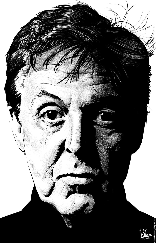 Paul McCartney (Ink Drawing
