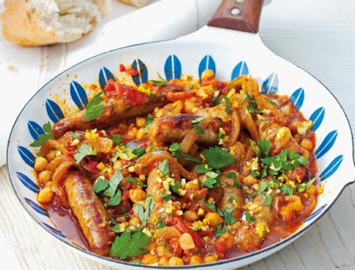 Quick sausage stew
