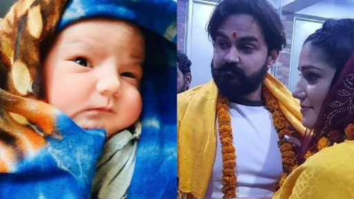 Sapna Choudhary's first pictures with husband Veer Sahu, Cute baby boy go viral