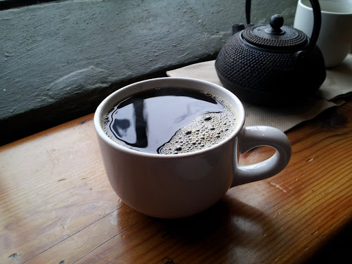 Delicious coffee (and tea) at Black Owl Cafe, Kalamazoo, Michigan - one of my favorite places to eat this year!