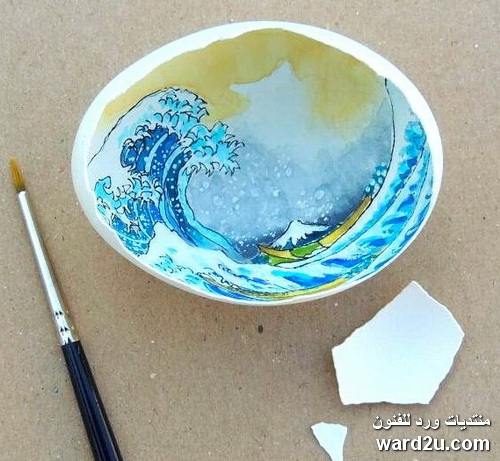 فن الرسم على قشر البيض