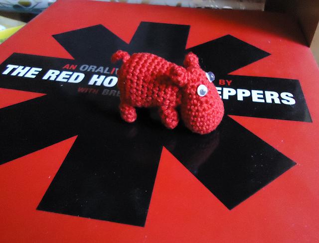 Хипопотам плетен на 1 кука