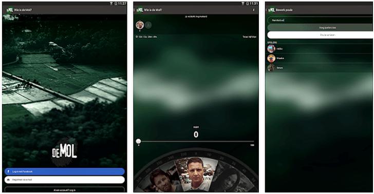 Wie is de Mol App voor Android, iPhone en iPad screenshot