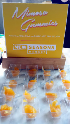 Portland Monthly Country Brunch 2016 Mimosa Gummies presented by New Seasons, made of orange juice, cava, and grassfed beef gelatin