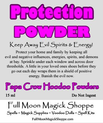 protection powder hoodoo dust keep evil away protect home