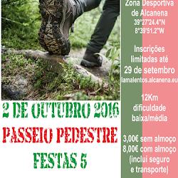PASSEIO PEDESTRE FESTAS 5 OUTUBRO - 2 DE OUTUBRO DE 2016