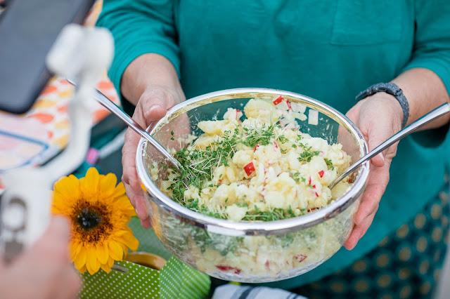 Kartoffelsalat zum Fisch