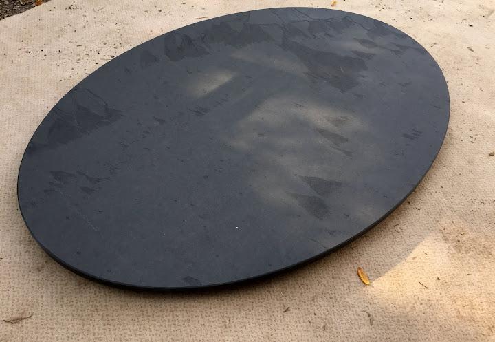 Couchtischplatte esstischplatte naturstein schiefer natur for Marmor tischplatte oval