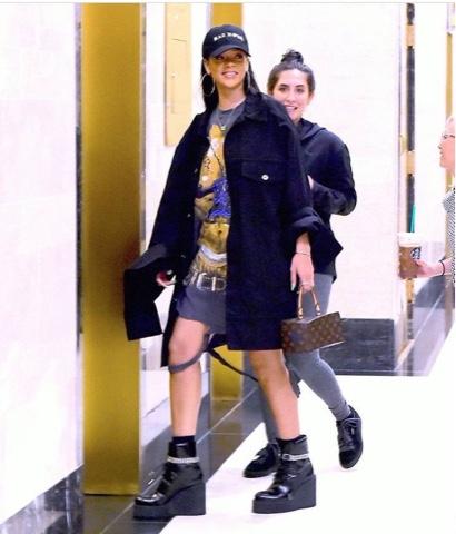 Rihanna wears Matthew Dolan and FENTY x PUMA IN NYC