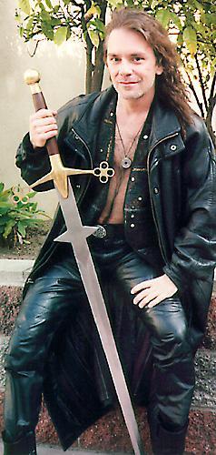 Michael Wisnieux Acting Swordfighting On Video Shoot W My Claymore, Michael Wisnieux