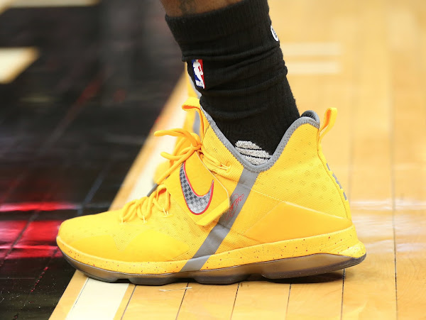 King James Sports Bright Yellow Nike LeBron 14 PE  13
