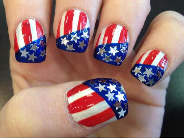 Day 217 - Star Spangled Nails