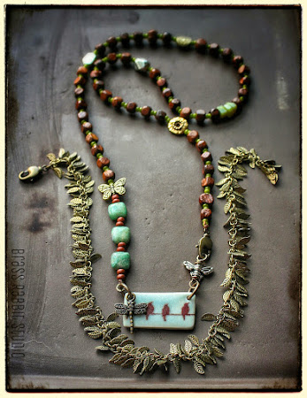 Convertible Bohemian Necklace by Brass Rabbit Studio