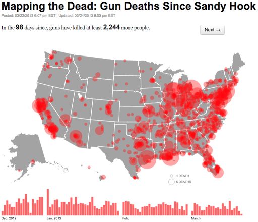 Mapping The Dead Gun Deaths Since Sandy Hook Data Viz Done Right - Data mapping best practices