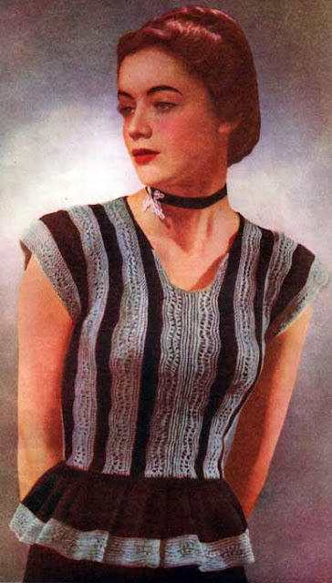 Free 1940's Knitting Pattern - Tatiana Top