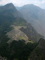 View from Wayna Picchu (the mountain in the background of the postcard shot)