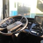 Het dashboard van de volvo van Connexxion bus 5654
