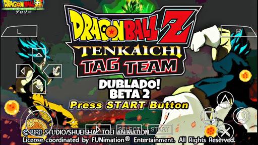 SAIU ! DRAGON BALL Z TENKAICHI TAG TEAM DUBLADO PT BR MOD +MENU BETA 2 PARA ANDROID / PPSSPP